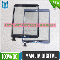 For iPad mini 3 touch screen assembly with IC & Back Cover Adhesive on digitizer