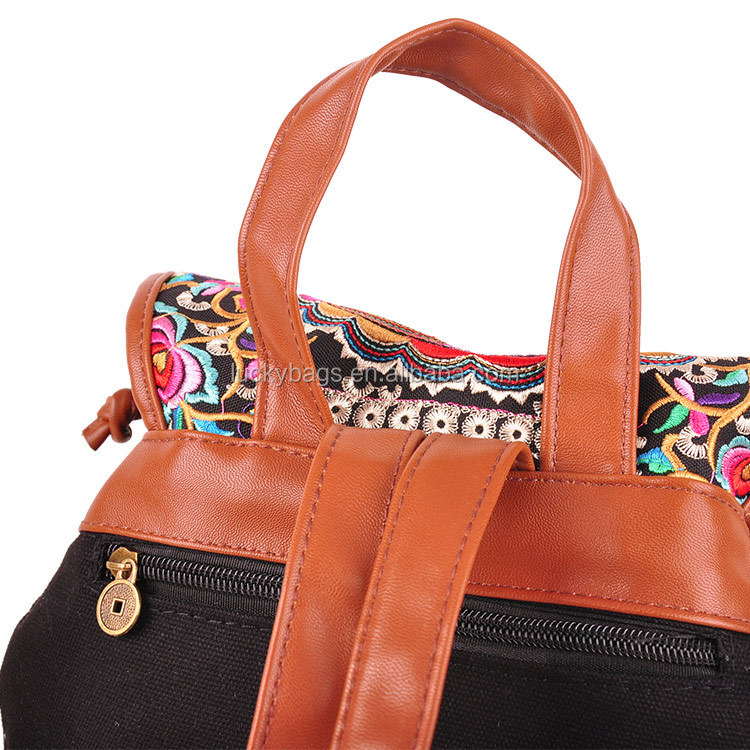 Hot selling new product fashion ladies embroidery backpack