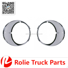 Auto Parts Freightliner Century Chrome Inner Headlight Bezels Headlamp Cover