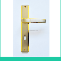 Designer Door Handles on Plate/zinc alloy handle on backplate/remove lever door handle