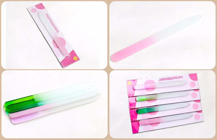 Colorful 2017 Hot Selling Clear Glass Nail Files Crystal Wholesale