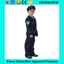 2017 hot sale Wholesale kids costume Best selling children police cosplay costume