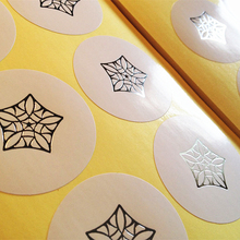 Silver Foil Hot Stamping Glossy Paper Sticker