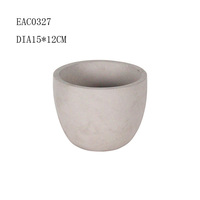 Tubbiness concrete galvanized flower pot / cement / paio flower pot designed for wholesale