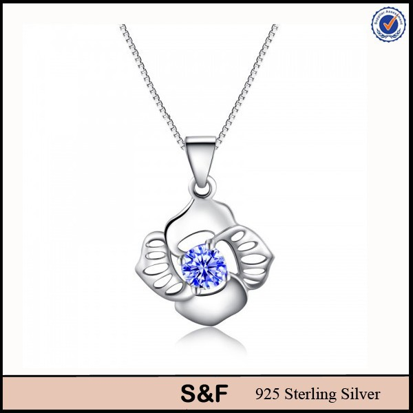 Bule flower jewelry for wholesale italy 925 silver