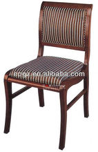 2014 luxury fancy wood upholstered dining chair for restaurant hotel furniture