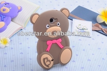 3D Cute Teddy Bear Cool Plush Toy Doll Cover Case For Samsung N7100 Mobile Phone