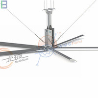 High efficiency and energy saving industrial ceiling fan for balance temperature