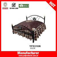 pet metal luxury frame dog beds
