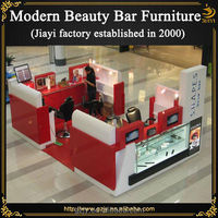 High quality fashion wooden beauty salon furniture pink