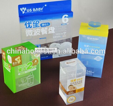 large clear plastic pvc box/small product packaging box/clear flat plastic boxes