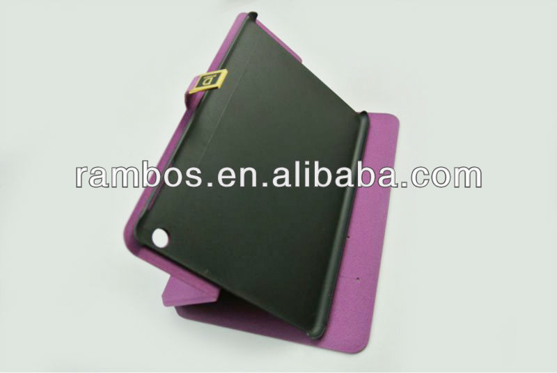 Wholesale Leather Fold Case Stand with Credit Card slot for iPad mini