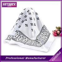 custom good quality white silk scarf for painting,100% silk square scarf
