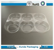 Clear transparent plastic pastry/dessert tray
