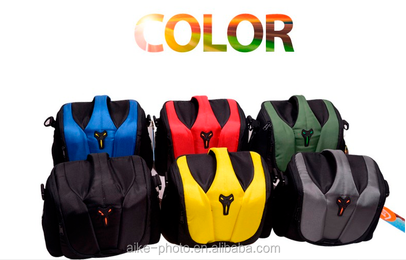 Colorful Photo Padded Shoulder Camera Video Bag with rain cover for DSLR and mirrorless Cameras and accessories