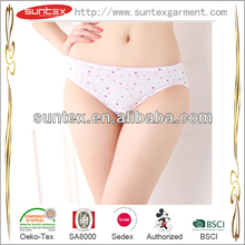 100% organic cotton women briefs