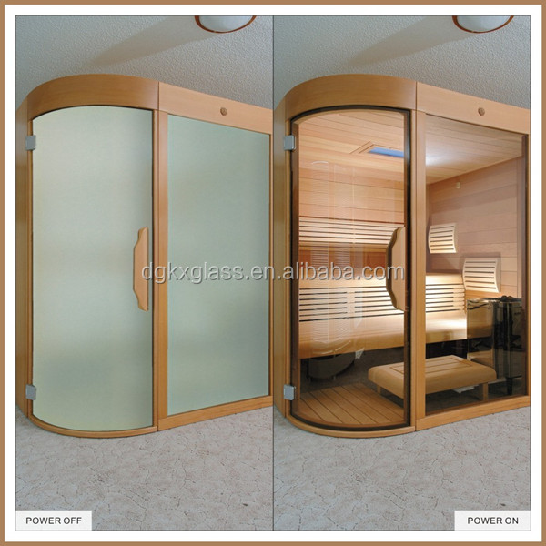 energy saving office partition wall tempered switchable smart window glass