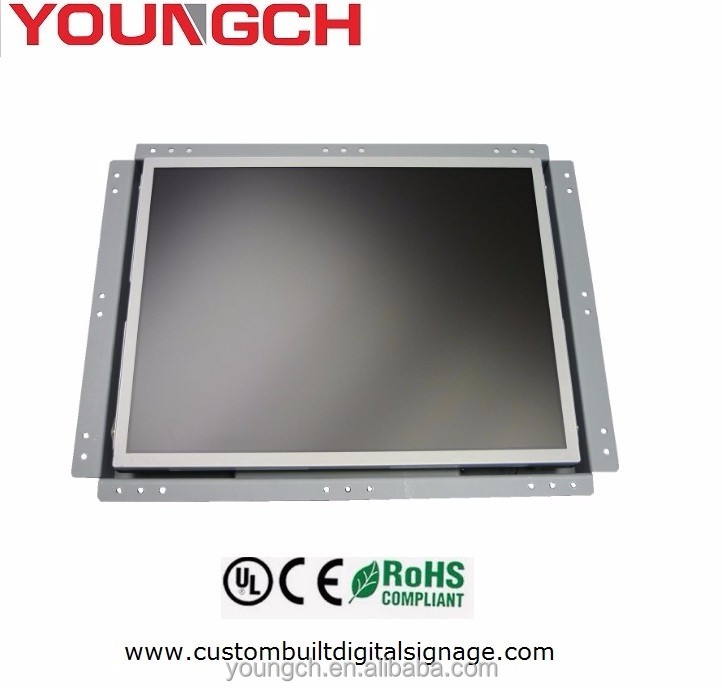 Wall mounted custom made open frame lcd monitor with optional touch screen oem manufacturer 22 inch standard size 16 9 with out