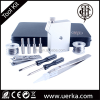 Electronic Cigarette DIY Tool Kit Ceramic Tweezers Coil jig DIY Kit For RDA RBA RTA RDTA Atomizer Vape Coil by THC