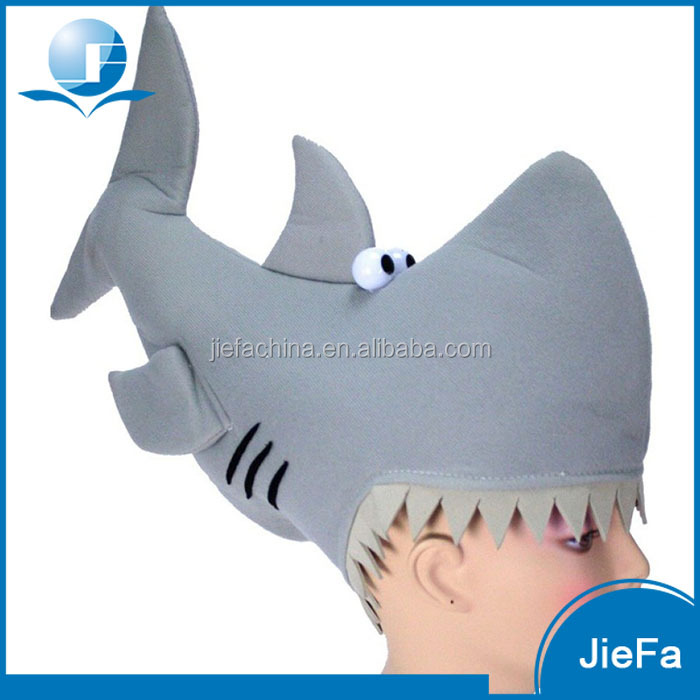 Popular High Quality Funny Shark Party Novelty Hats