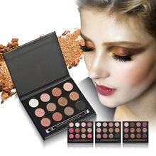 12 Colors Eyeshadow Matte Shimmer <strong>Cosmetics</strong> smudging eye shadow palette