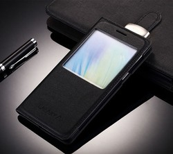 Leather Flip Case Cover Flip For Samsung Galaxy E7009 With Window