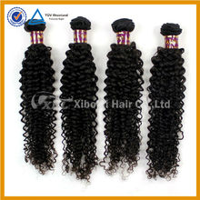 Thick end double weft yaki human hair curly weave