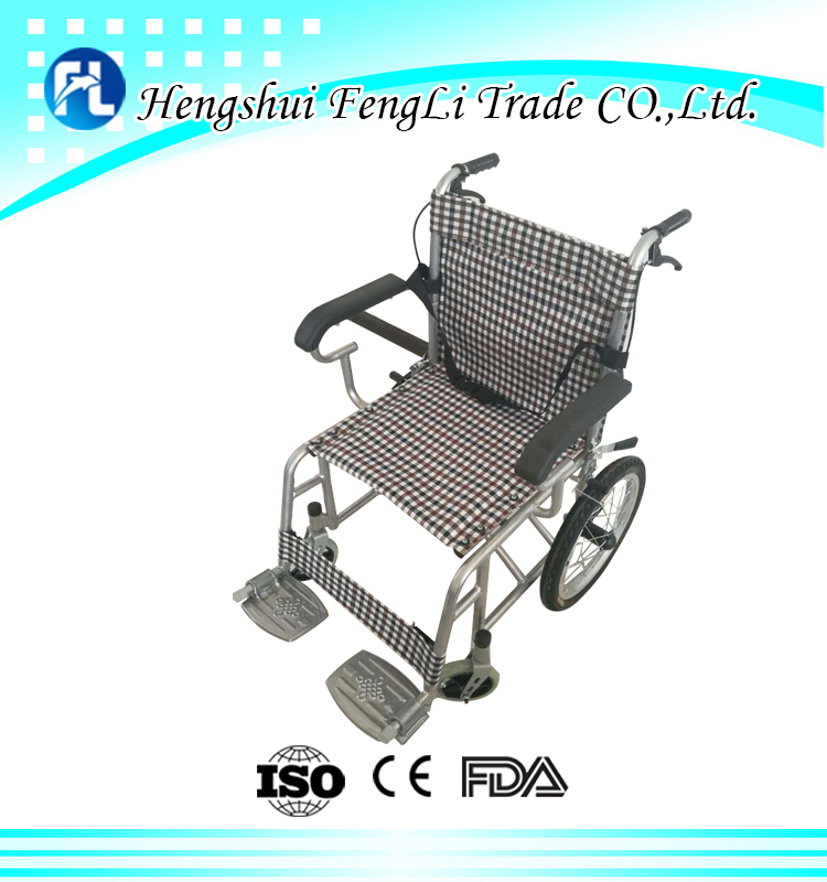 popular small packing steel manual folding wheel chair price of chair with wheels