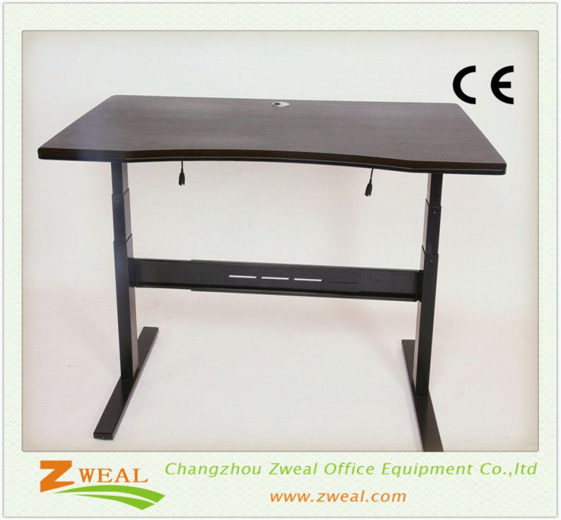 high quality one leg electric height adjustable desk metal workshop table fancy tall office price