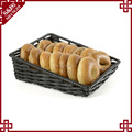 Wholesale eco-friendly handmade woven plastic rattan bread baskets