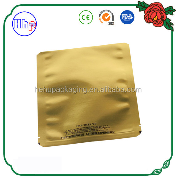 sunlight proof gold retort bag for food packaging customized