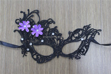 Craft flower and crystal decor masquerade lace mask for hot sale