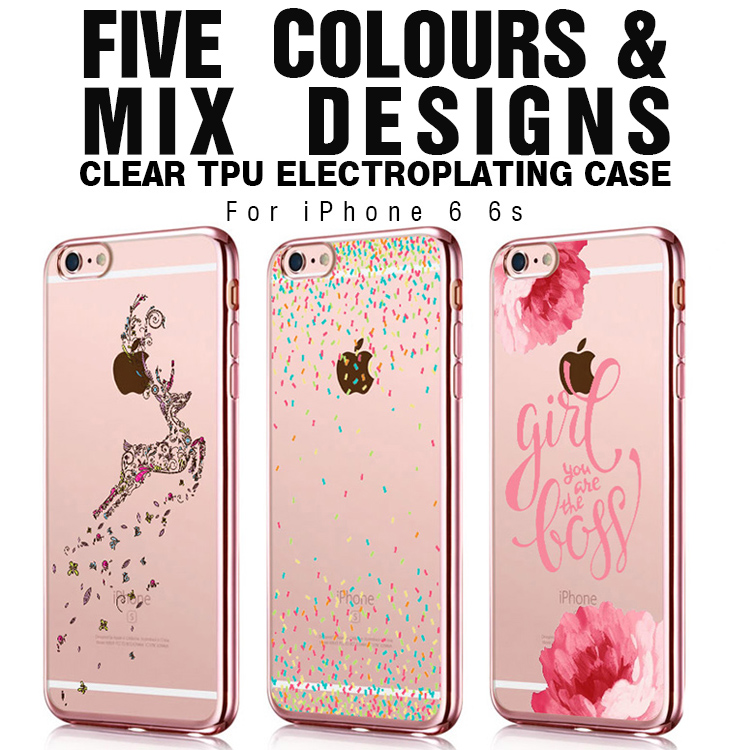 Newest Luxury Crystal bling bling butterfly girl Electroplate Transparent soft tpu Phone Cases Cover For Apple iphone 6 6s Bags