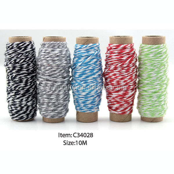 10 Meters Length Colorful Assorted Bakers Cotton Bakers Twine