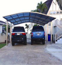 used metal carports sale/ polycarbonate carports with aluminum frame polycarbonate roof