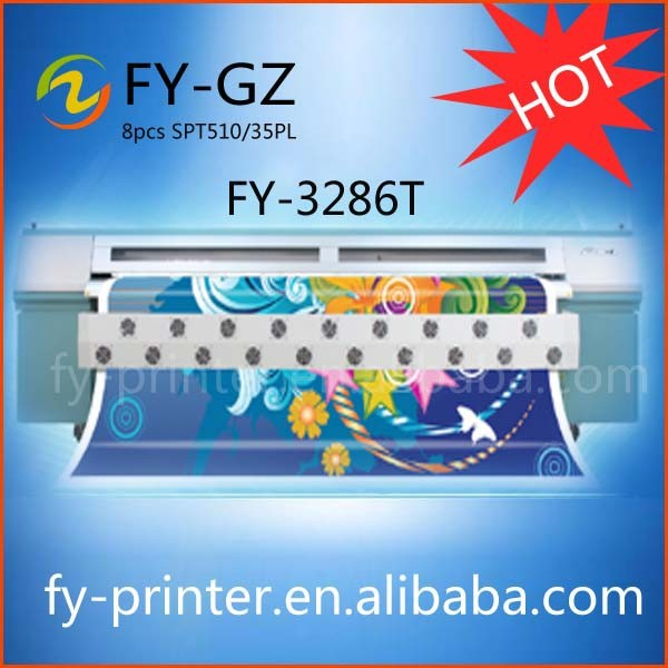 Infiniti/Challenger FY-3286T Solvent Flex Printer, Digital Solvent Plotter, installed 6pcs SPT 508GS Printhead