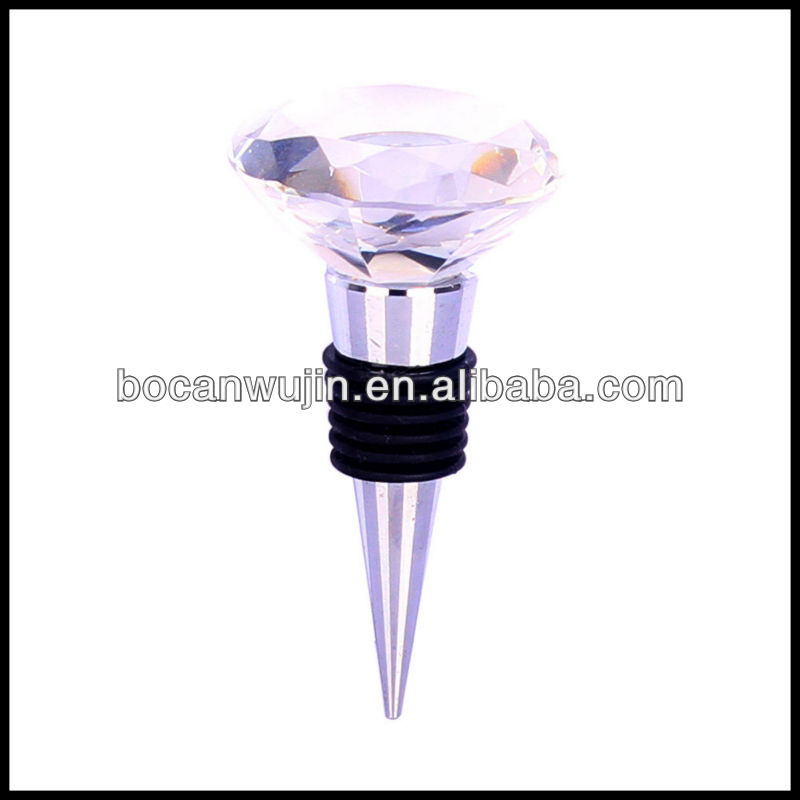 pink crystal knob wine stopper