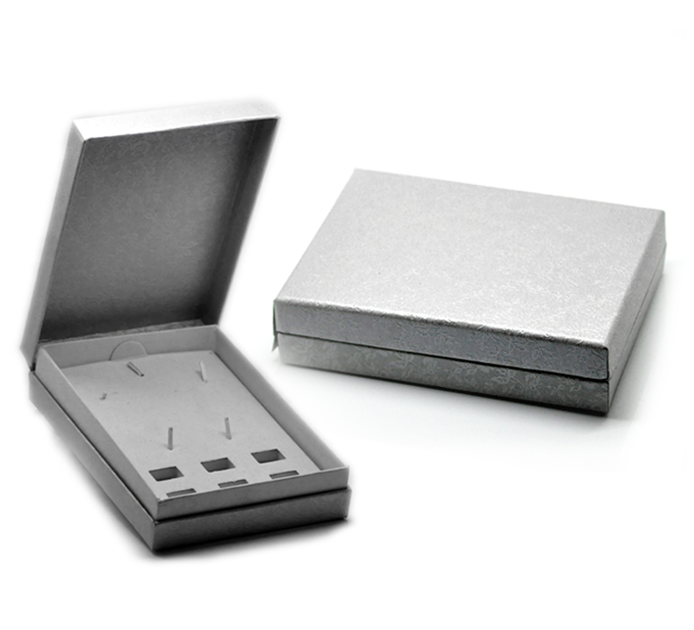 Silver-Gray Bracelet &Watch Gift Box Case Display For European Charm