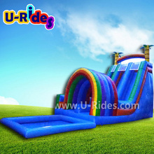 2017 Funny Big Colorful Inflatable Rainbow Water Slide For Sport Games