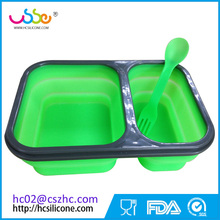 Silicone kids Food Storage Collapsible Lunch Box