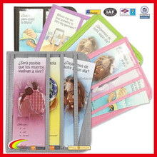 Promotion leather Magazine and Tract Display Folio, Colorful PVC Magazine and Tract Portfolio Factory Directly