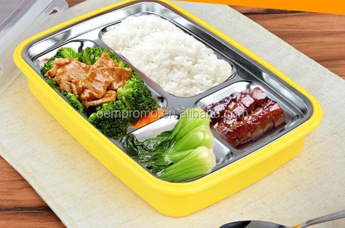 Stainless steel and PP food grade plastic lunch box