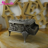 A2133 New Arrival Vintage Wholesale Piano Metal Jewelry Box