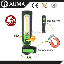 foldable handheld Strong magnetic Rechargeable led work lamp with convenient clip and strong magnet for Promotional Gifts