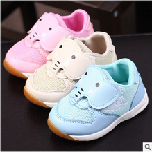 Hot selling cute cartoon 3D animals kids mesh shoes