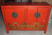 Antique painted wooden buffet LWC367