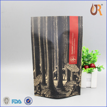 decorative blue strip paperbag/paper food bag with logo printed