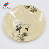 Trading agent commission agnet wanted in china Environmental and healthy 25cm bird pattern round melamine plate