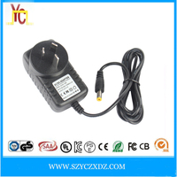 AC/DC 12V 2A AU rule wall-plug power adapter supply with CE FCC UL use for LED