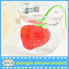 Fantastic Strawberry Design Silicone Tea Infuser Strainer Teapot Teacup